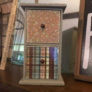 Handmade Distressed Shabby Jewelry Box /Decor